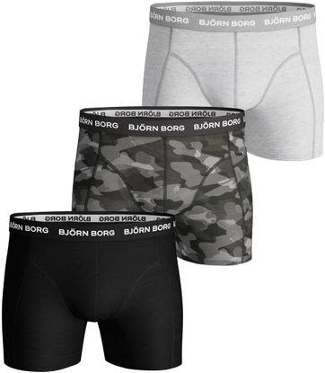 Björn Borg Shorts 3er-Pack Grau Schwarz