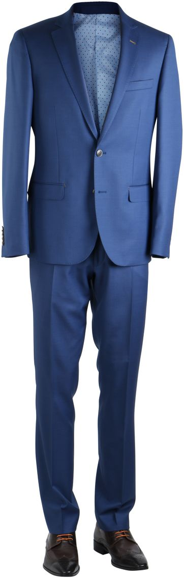 Blau Anzug Birdseye