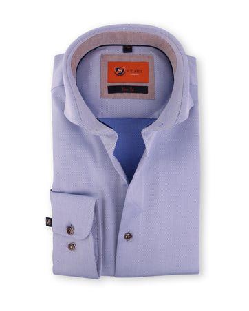 Blau Hemd Herringbone Cutaway 118-2