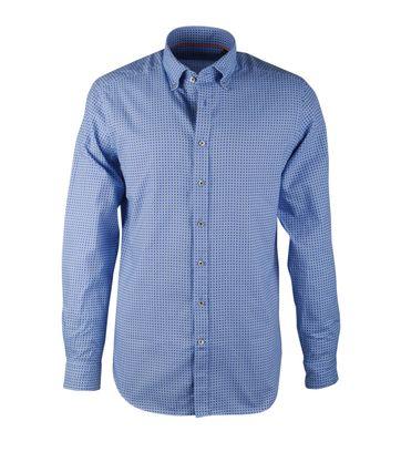 Blau Print Hemd Suitable