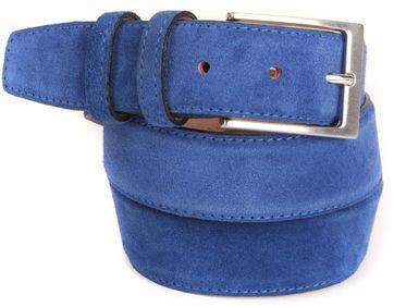 Blau Suede Gürtel 10-04