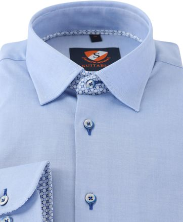 Detail Blauw Overhemd 154-2