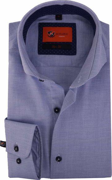 Blauw Overhemd Circle Cutaway 118-5