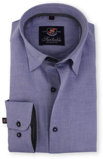 Blauw Overhemd Dessin 117-2