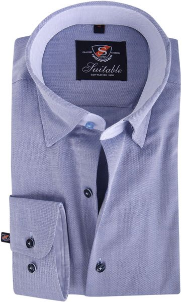 Blauw Overhemd Micro 102-6