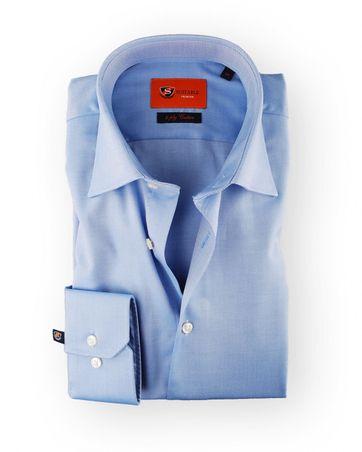 Blauw Overhemd Strijkvrij