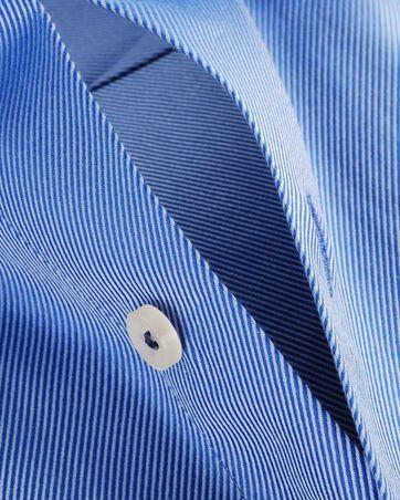 Detail Blauw Zakelijk Overhemd