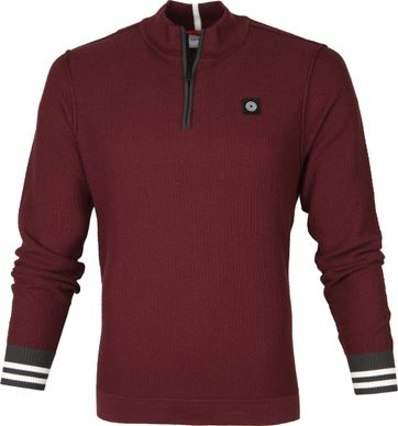 Blue Industries Zip Sweater Bordeaux Rood