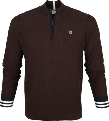 Blue Industries Zip Sweater Brown