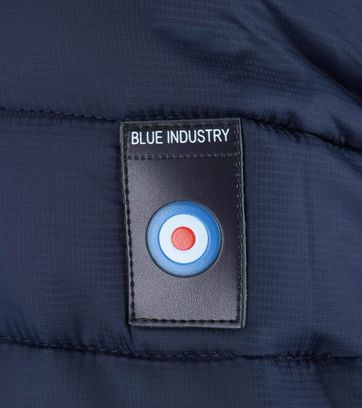Detail Blue Industry Bomber Jas