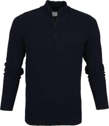 Blue Industry Boucle Pullover Dunkelblau