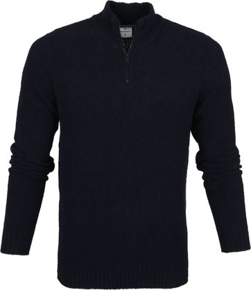 Blue Industry Boucle Pullover Navy