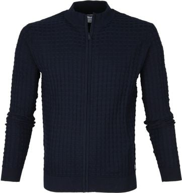 Blue Industry Cardigan Zip Navy