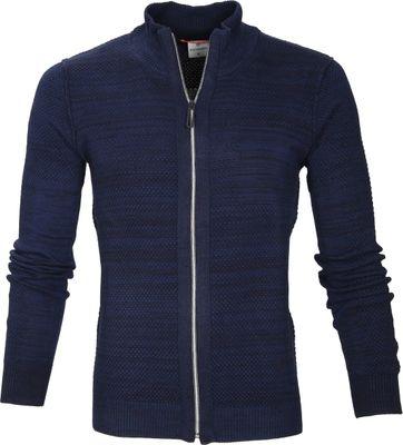 Blue Industry Cardigan Zipper Navy