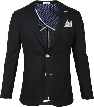 Blue Industry Colbert Black Pocket Square