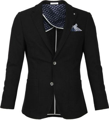 Blue Industry Colbert Pocket Square Black
