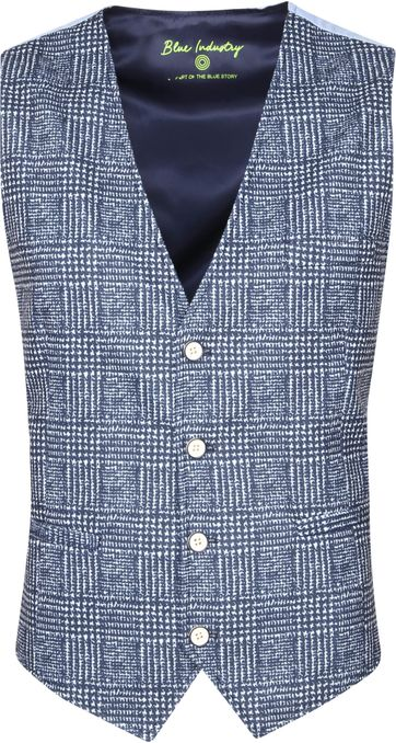 Blue Industry Gilet M4 Ruit Donkerblauw