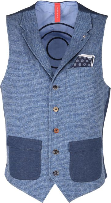 Blue Industry Gilet Revers Blauw