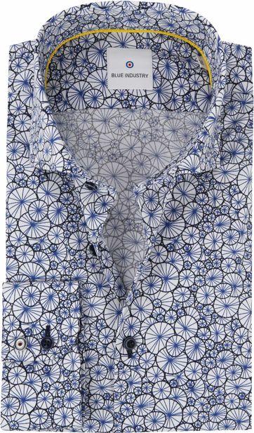 Blue Industry Hemd Blau Dessin