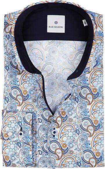 Blue Industry Hemd Blau Paisley