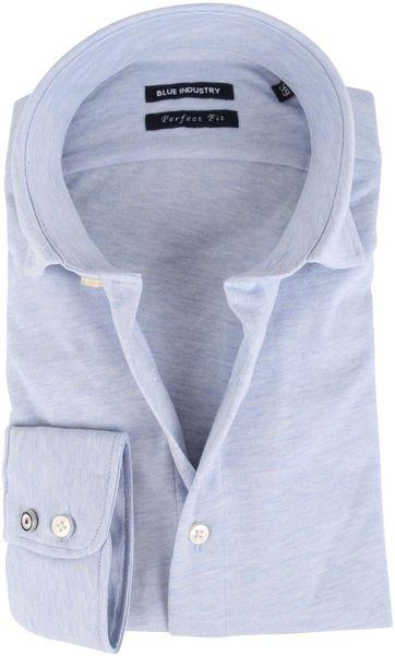 Blue Industry Hemd Blau Stretch