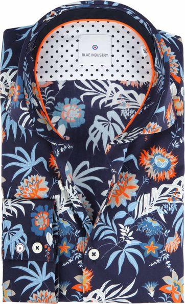 Blue Industry Hemd Blumen