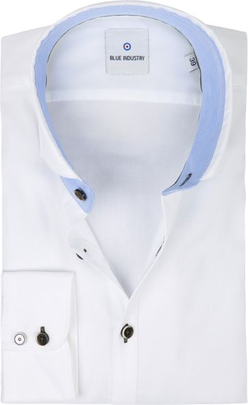 Blue Industry Hemd Casual Weiss