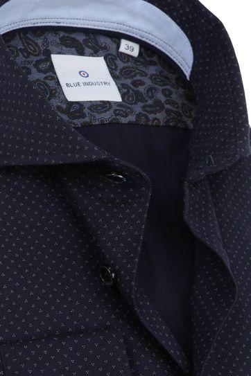 Blue Industry Hemd Design Dunkelblau