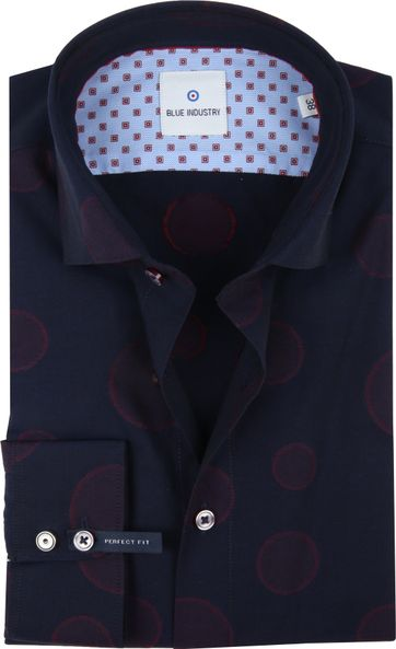Blue Industry Hemd Dots Navy