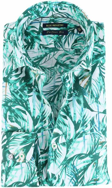 Blue Industry Hemd Floral Green
