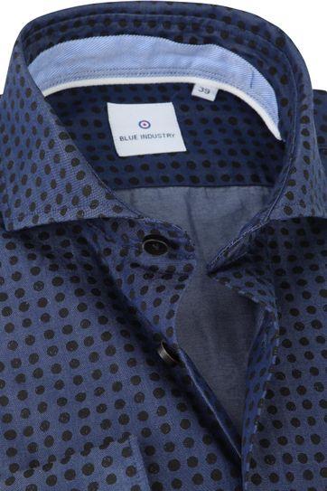Blue Industry Hemd Kreise Dunkelblau