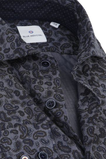Blue Industry Hemd Paisley Navy