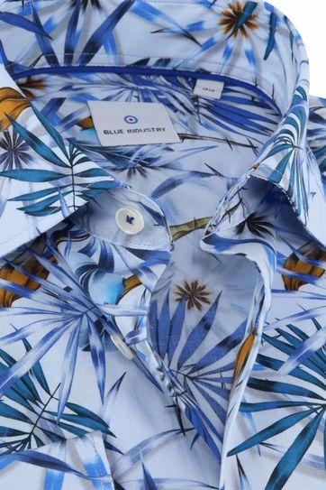 Blue Industry Hemd Tropisch Blauw