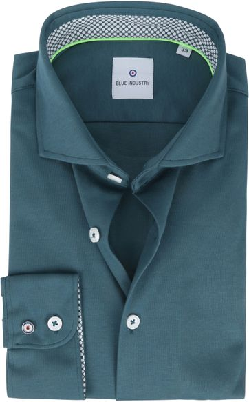 Blue Industry Jersey Hemd Grun