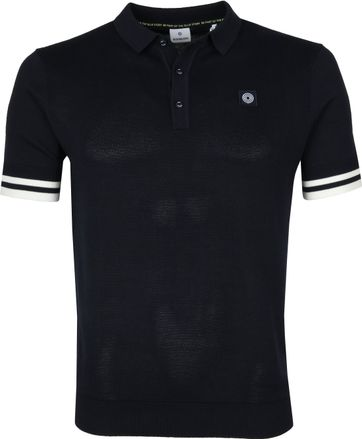 Blue Industry Knit Polo Shirt Navy