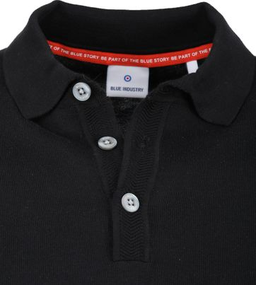 Blue Industry Knit Polo Zwart