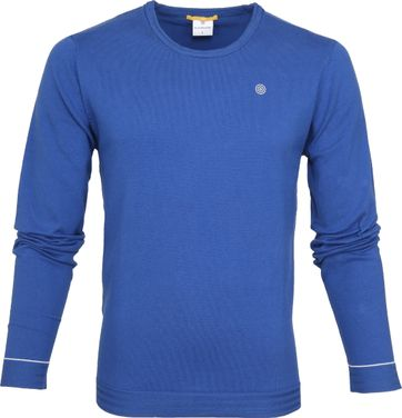 Blue Industry Knit Sweater Blauw