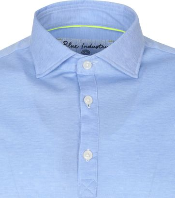 Blue Industry Longsleeve Polo Rugby Blauw
