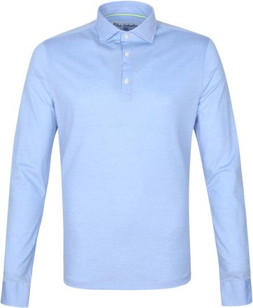 Blue Industry Longsleeve Polo Rugby Blue