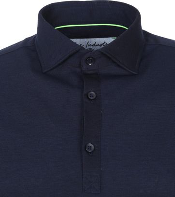 Blue Industry Longsleeve Polo Rugby Donkerblauw