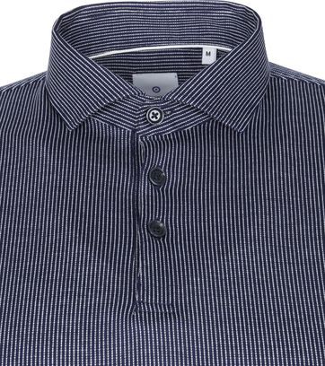 Blue Industry Longsleeve Polo Rugby Stripe Navy