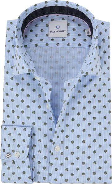 Blue Industry Overhemd Blauw