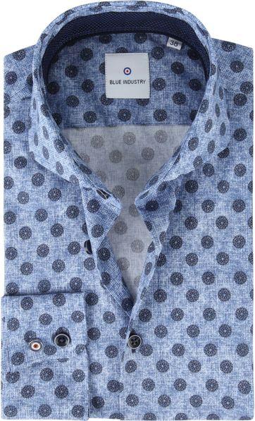 Blue Industry Overhemd Blauw Bloemen