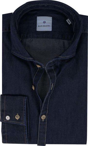 Blue Industry Overhemd Denim Donkerblauw