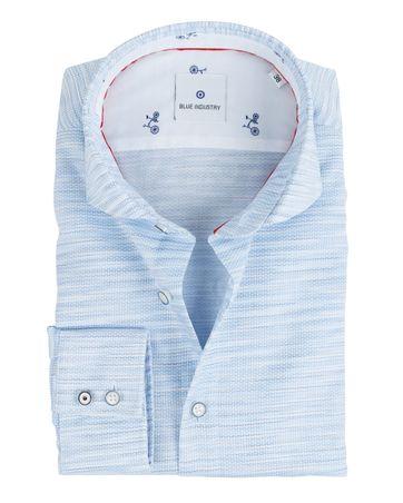 Blue Industry Overhemd Dessin Blauw