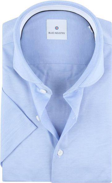 Blue Industry Overhemd Korte Mouwen Blauw