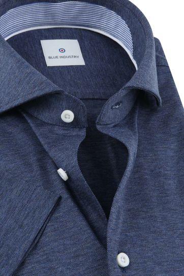Blue Industry Overhemd Korte Mouwen Navy