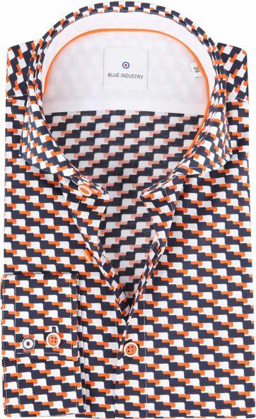 Blue Industry Overhemd Oranje