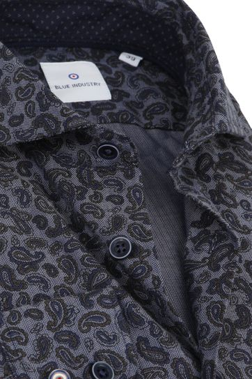Blue Industry Overhemd Paisley Navy