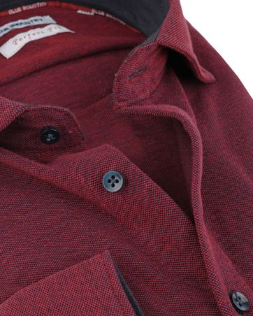 Detail Blue Industry Overhemd Perfect-Fit Rood